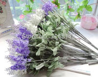 (16 piece/lot) 10 lavender heads cheap artificial silk lavender flowers decorative flowers wedding supplies