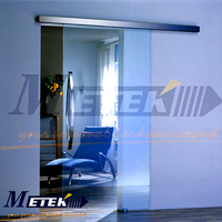 High Quality Aluminium Alloy Glass Sliding Door with Fixed Panel