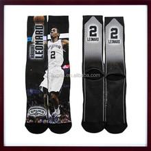 9-11 Size For Bare Feet Men 3D Sublimation Basketball Socks, Sublimation Basketball Men Socks, Mesh Crew sublimation Men Socks