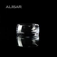 Arts and crafts handblown crystal cigar ashtray glass ashtray