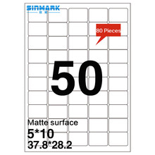 SINMARK Matte surface 37.8mm*28.2mm inkjet photo sticker paper
