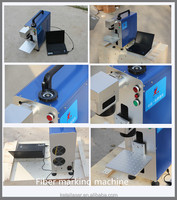 ecnomic model machine for 10w/20w portable marker name card fiber laser rotary marking machine