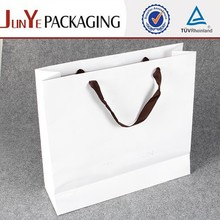 Strong White Card luxury paper printed shopping bag on Sale