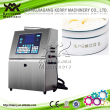 Automatic inkjet code printing machine for protect skin to taste the jar