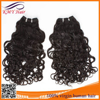 Fast delivery virgin wet and wavy ombre colored indian human hair weave