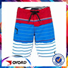 Red Blue and White Stripe Printed 4-way Stretch Boardshorts Men Swimming Trunks Surf Shorts Pants