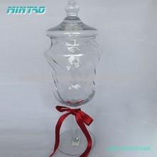 High quality christmas candy jar with lid storage jar