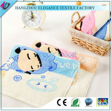 pure cotton superior absorbing ability cartoon printing soft terry face towel
