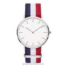 Wholesale china watch leather Nylon Nato straps fashion watch