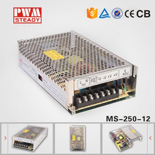 CE approved 250W 12V 20.8a meanwell style mini size single output smps switching power supply