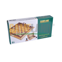 2 in 1 BACKGAMMON & CHESS SET Wooden Game