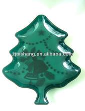 European Fashionable First Rate High Quality food grade christmas tree shaped plates Bpa free