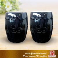 Fine black glaze ceramic lab stool made in Jingdezhen