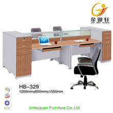 Comfortable wooden type dividers office standing desk