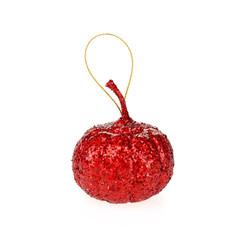 Mini Christmas Tree Hang Craft Glittered Pumpkin #51333