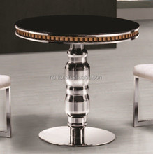 dia 80cm black tempered glass dining table dining room furniture