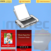 Good color performance & Continuously loading Matte coated inkjet paper for desktop Printers
