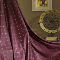 BZM ready made blackout gold stamping 100% polyester curtain fabric for living room/ hotel