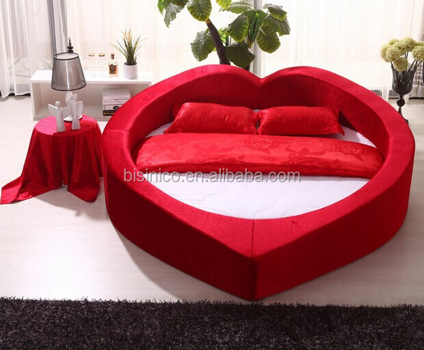 Heart shaped soft bed special design princess bed warm and comfortable marriage bed bf01 x1049 - Letto matrimoniale a forma di cuore ...