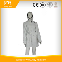 polyester nylon spandex PU grey polyester mesh panel custom woman jacket