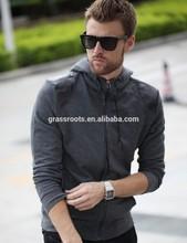 wholesale personality men plain zip hoodies customed