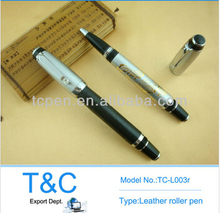 2014 Best leather metal pen,leather pens,pu leather pen holder