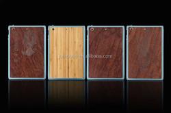 Metal bumper frame + wooden hard back Case For Apple ipad mini 1 2 3