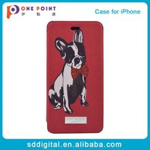 Alibaba express dog patterns flip mobile phone case