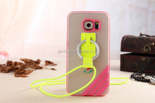 Mobile phone case cover with hanging rope translucent matte for S6