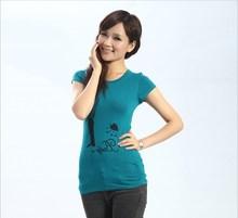 Fuente de la fábrica de verano nuevo vestido de verano insignia de la impresión t- shirt blusa