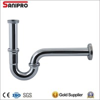 Sanipro stainless steel or brass bathroom siphon trap for wash basin