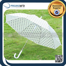 Full color Printed Polka Dots Plastic Transparent Folding Umbrella