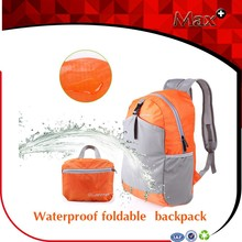 Max+ 2015 Fashion Trend Portable Backpack Promotional Waterproof Polyester Lightweight Foldable Backpack
