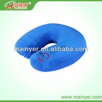 Letter and logo embroidery microbead neck pillow