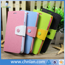 Hot selling 2014 Cute button Leather wallet tpu case for samsung galaxy s5 with stand and credit card id card slot