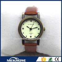 Customized High Quality leather watch quartz analog watch japan movement