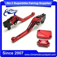 FYAYR022RD Red Motorcycle Short Clutch Brake Lever With Reservoir And Cap Kit For R125 2012-2015