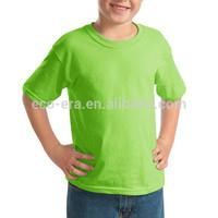 High Quality China Wholesale Cotton Kids T shirt 180g 100% Ringspun Cotton Round Neck Kids Plain T shirts For Custom Team Wear