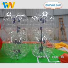 tpu football inflatable body zorb ball/inflatable bumper ball pit