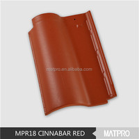 soundproof material clay roof tiles for sale MPR23 coffee red