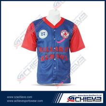 sublimated fashional baseball jerseys/uniforms summer plain baseball t shirt