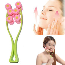 Eastony Hand Tool Pink Green Plastic 12 Rolling Roller Facial Massage Massager