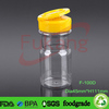 100ml pet plastic spice shaker bottles, small plastic clear containers with lids, salt pepper shaker jars China factory