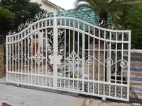 white sliding gate design / new design iron gate / main iron gate