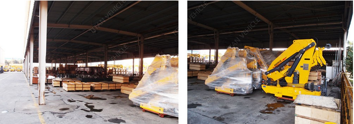 Dongfeng 5 тонн грузовик с мини кран для продажи