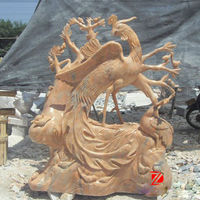 Natural marble phoenix statue