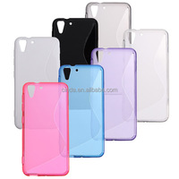 S-Line Soft Gel Tpu Silicone Skin Back Case Cover For HTC Desire Eye