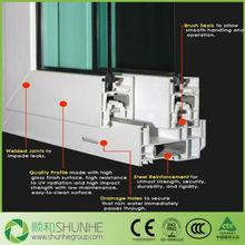 Double glazed reinforcement UPVC windows