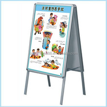Fashion Design Picture Frame Stand Metal Frame Floor Display Stand
