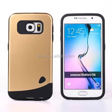 Luxury hybrid Armor mobile phone case for Samsung galaxy S6